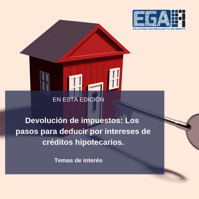 Devolución de impuestos: Los pasos para deducir por intereses de créditos hipotecarios.
