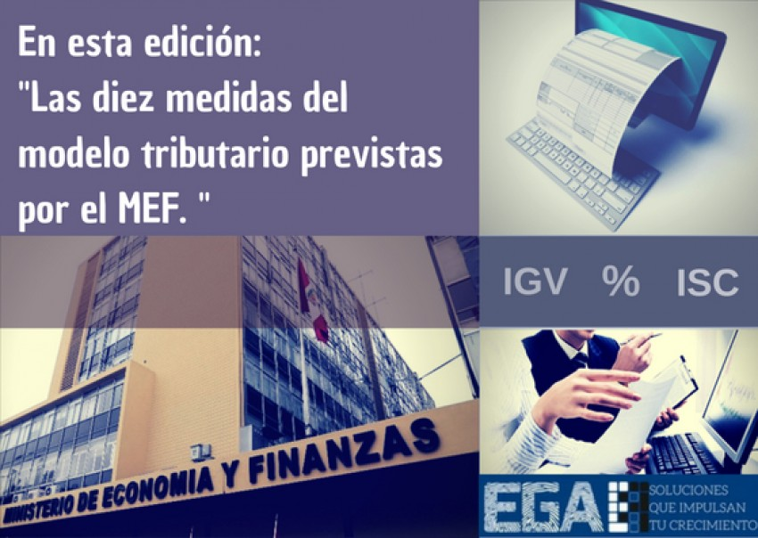 Las diez medidas del modelo tributario previstas por el MEF.