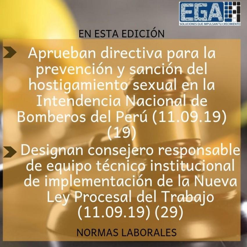 Aprueban directiva para la prevención y sanción del hostigamiento sexual en la Intendencia Nacional de Bomberos del Perú