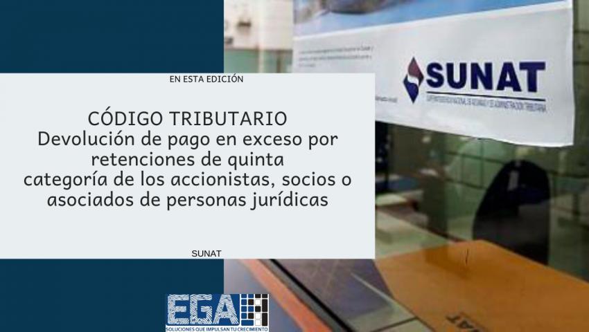 Devolución de pago en exceso por retenciones de quinta categoría de los accionistas, socios o asociados de personas jurídicas