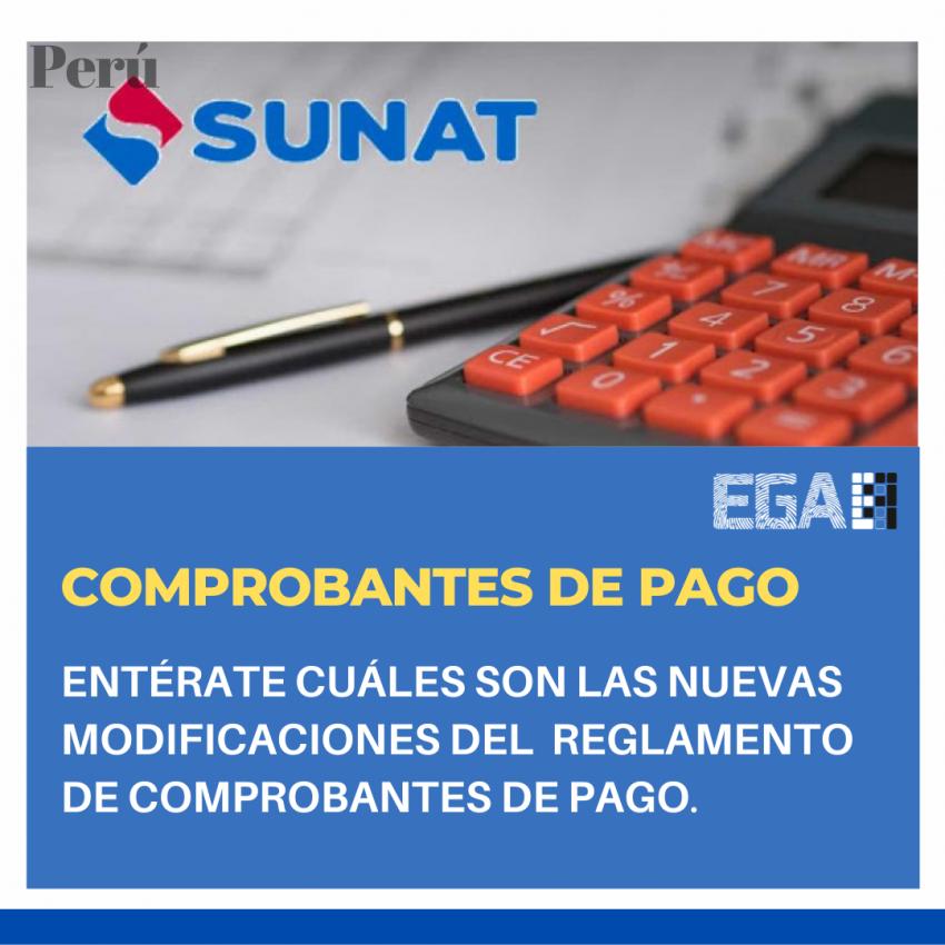 MODIFICAN REGLAMENTO DE COMPROBANTES DE PAGO
