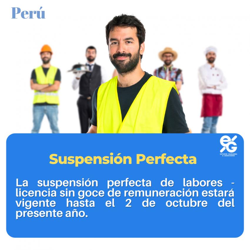 PLAZO PARA FINALIZAR LA SUSPENSIÓN PERFECTA DE LABORES