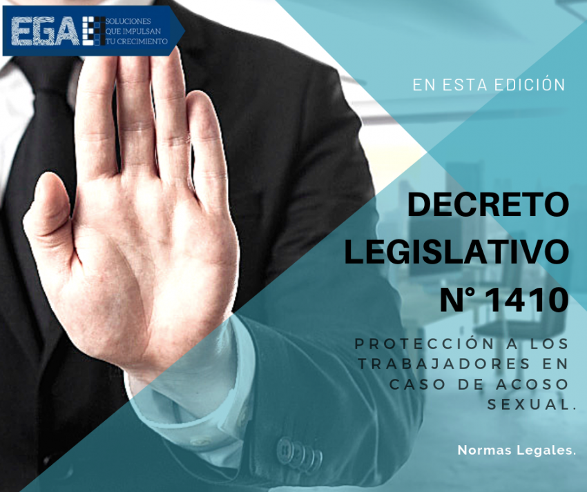 El poder ejecutivo establece el Decreto Legislativo N° 1410 que protege a los trabajadores en casos de acoso sexual.